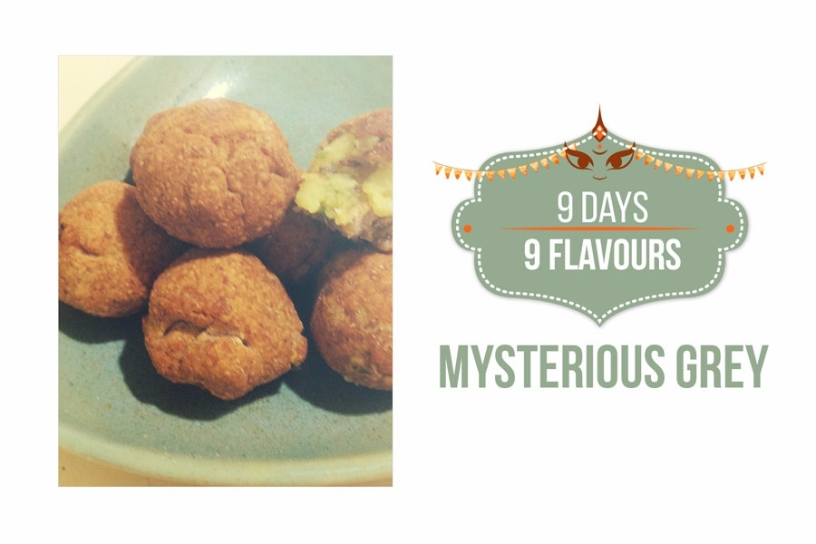 Navratri Special: Mysterious Grey Shingada Mini Wada