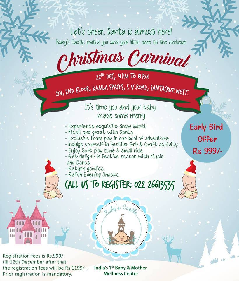 Christmas Carnival Poster.Christmas Carnival Baby S Castle